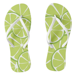 Summer Citrus Lime FlipFlops Flip Flops