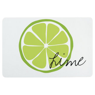 Summer Citrus Lime Floor Mat