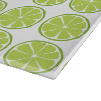 Summer Citrus Lime Glass Cutting Board