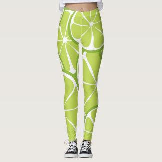 Summer Citrus Lime Leggings - Bold Print