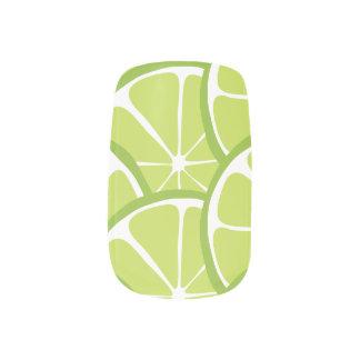 Summer Citrus Lime Slices Nail Art