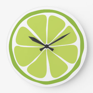 Summer Citrus Lime Wall Clock