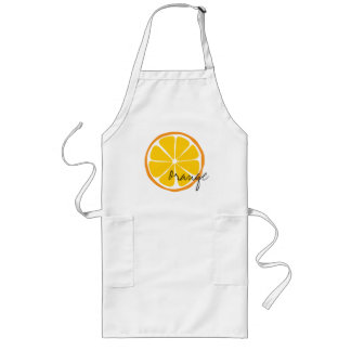 Summer Citrus Orange Arpon Long Apron