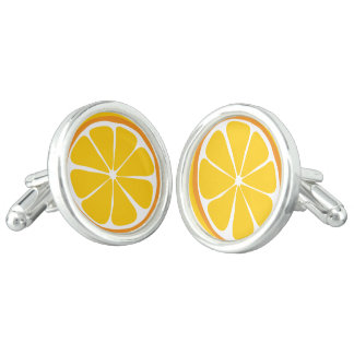 Summer Citrus Orange Cufflinks