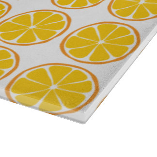 Summer Citrus Orange Glass Cutting Board