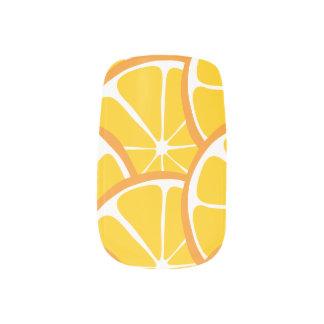Summer Citrus Orange Slices Nail Art
