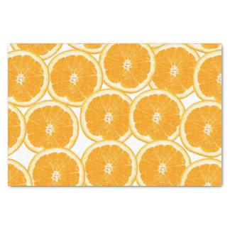 Summer Citrus Orange Slices Tissue Paper