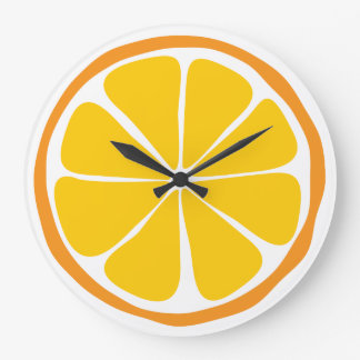 Summer Citrus Orange Wall Clock