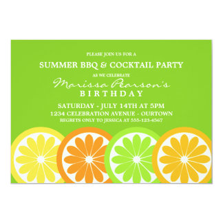 Summer Citrus Party Invitations