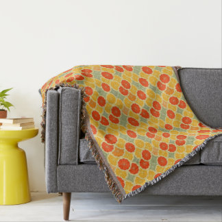 Summer Citrus Throw Blanket