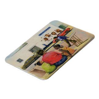 Summer City Stoop 2000 Rectangular Photo Magnet
