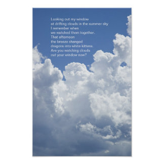 Summer Clouds Poem Poster