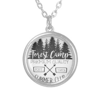 Summer Club Vintage Silver Plated Necklace