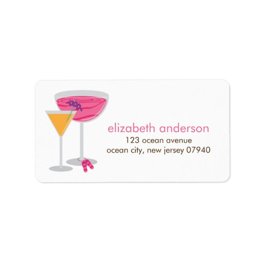 Summer Cocktails Address Labels