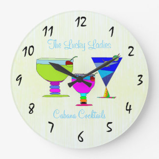 Summer Cocktails Artistic Custom Round Wall Clock