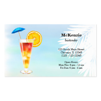 Summer Cocktails Pack Of Standard Business Cards
