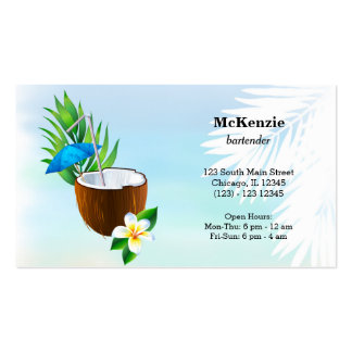 Summer Cocktails Business Card