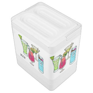 Summer Cocktails custom monogram cooler
