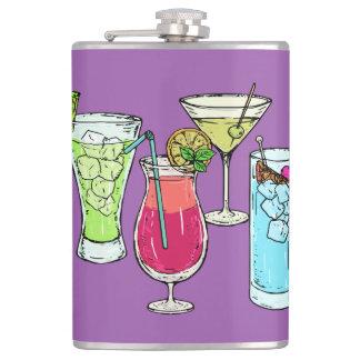 Summer Cocktails custom name flask