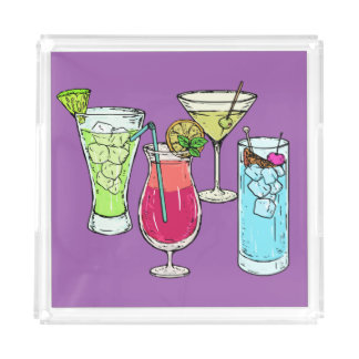 Summer Cocktails serving trays