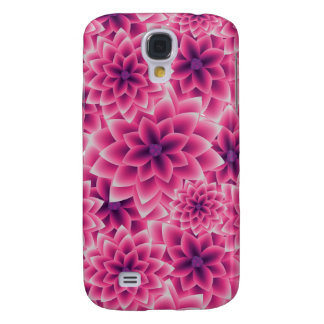 Summer colorful pattern purple dahlia