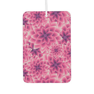 Summer colorful pattern purple dahlia air freshener