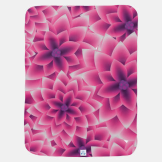 Summer colorful pattern purple dahlia baby blanket