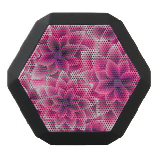 Summer colorful pattern purple dahlia black bluetooth speaker