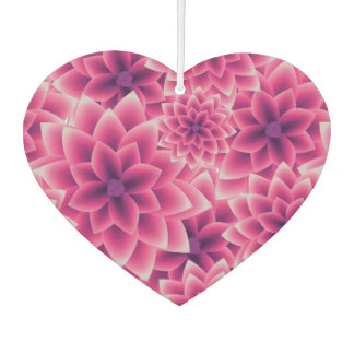 Summer colorful pattern purple dahlia car air freshener