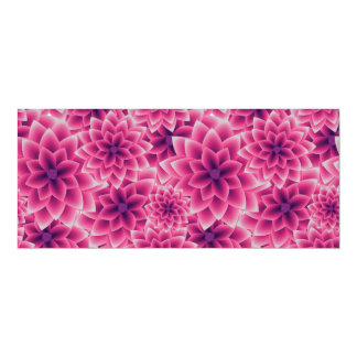Summer colorful pattern purple dahlia card