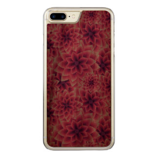 Summer colorful pattern purple dahlia carved iPhone 7 plus case