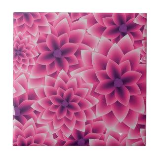 Summer colorful pattern purple dahlia ceramic tiles