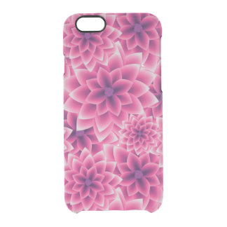 Summer colorful pattern purple dahlia clear iPhone 6/6S case