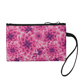 Summer colorful pattern purple dahlia coin wallet