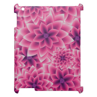 Summer colorful pattern purple dahlia cover for the iPad 2 3 4