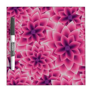 Summer colorful pattern purple dahlia dry erase board