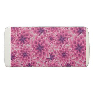 Summer colorful pattern purple dahlia eraser