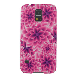 Summer colorful pattern purple dahlia galaxy s5 cover