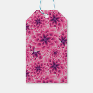 Summer colorful pattern purple dahlia gift tags