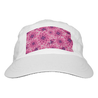 Summer colorful pattern purple dahlia hat