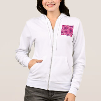 Summer colorful pattern purple dahlia hoodie