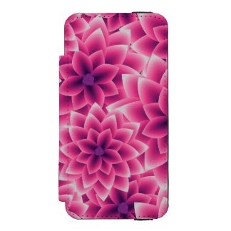 Summer colorful pattern purple dahlia incipio watson™ iPhone 5 wallet case