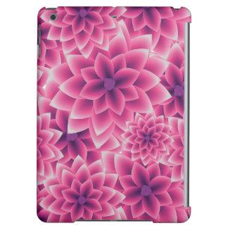Summer colorful pattern purple dahlia iPad air cases
