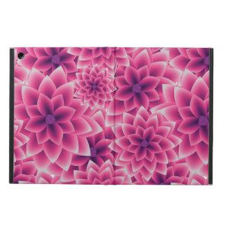 Summer colorful pattern purple dahlia iPad air cover
