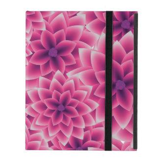 Summer colorful pattern purple dahlia iPad case