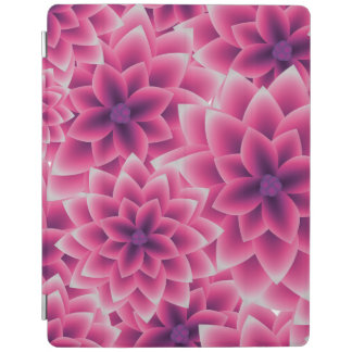 Summer colorful pattern purple dahlia iPad cover