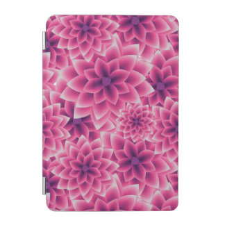 Summer colorful pattern purple dahlia iPad mini cover