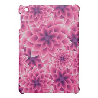 Summer colorful pattern purple dahlia iPad mini cover