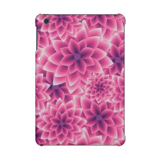 Summer colorful pattern purple dahlia iPad mini retina case