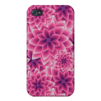 Summer colorful pattern purple dahlia iPhone 4/4S covers